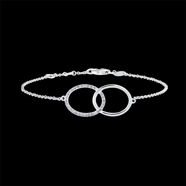 Brazalete Frescura - Doble Firmamento - or blanc 18carats et diamants