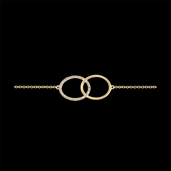 Brazalete Frescura - Doble Firmamento - oro amarillo de 9 quilates y diamantes