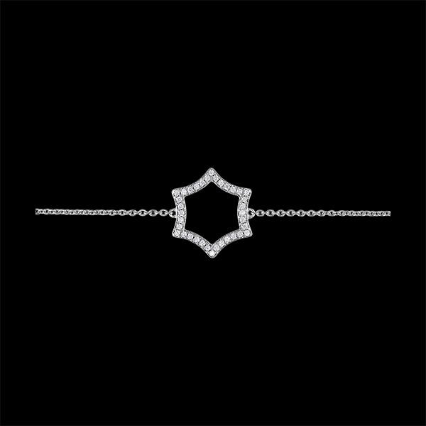 Brazalete Frescura - Lux - oro blanco de 18 quilates y diamantes