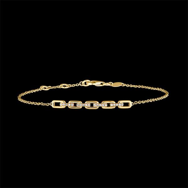 Brazalete Mirada de Oriente - Eslabones Cubanos - oro amarillo de 18 quilates y diamantes