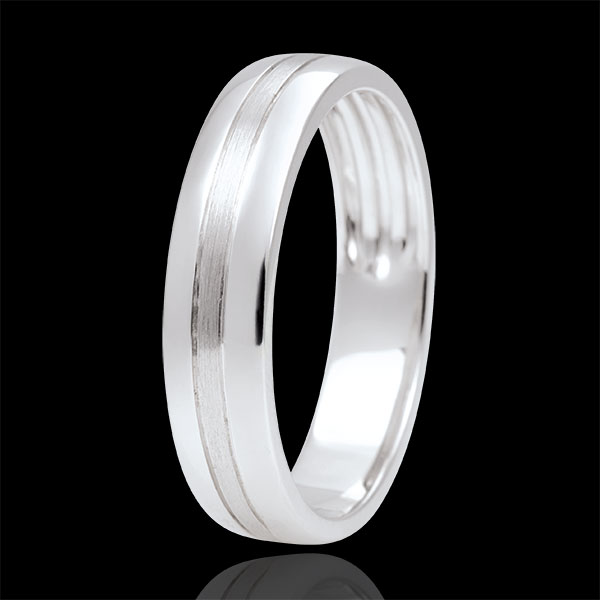 Brushed Gold Star Wedding Band - Small Model