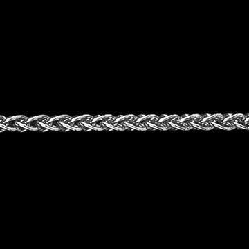 Cadena de malla espiga oro blanco 42 cm