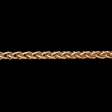 Cadena de malla espiga oro amarillo - oro amarillo 9 quilates - 42 cm