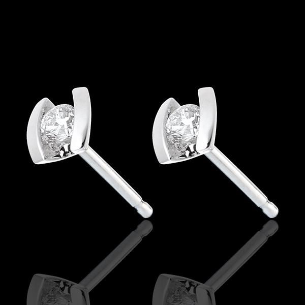Caldera Stud Earrings - white gold diamond studs - 0.21 carat