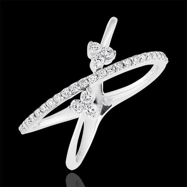 Celestial Ellipses ring - 9K white gold and diamonds