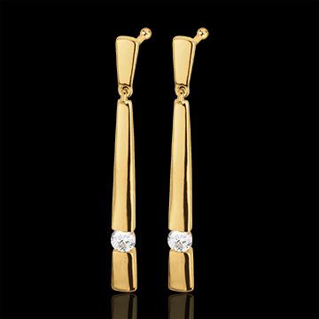 Cercei Cleopatra aur galben de 18k şi diamante