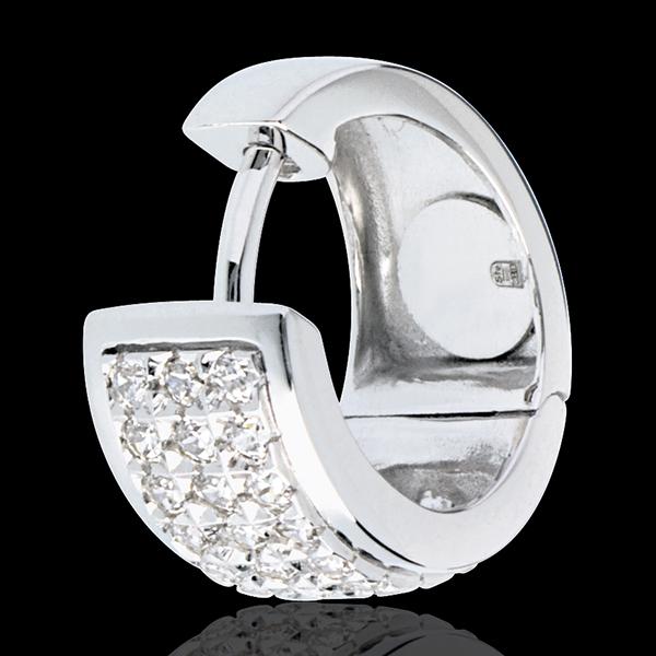 Cercei Constelaţie - Astrală - model mare - aur alb de 18K pavat - 0.43 carate - 54 de diamante