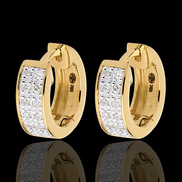 Cercei Constelaţie - Astrală - variantă model mic - aur galben de 18K - 0.12 carate - 24 de diamante