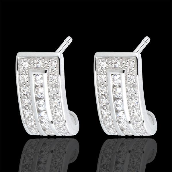 Cercei Constelaţie - Zodiac - aur alb de 18k şi diamante