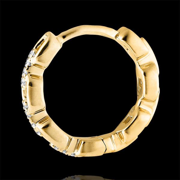 Cercei Creole Privire din Orient - Zale Cubaneze - aur galben de 9 carate și diamante
