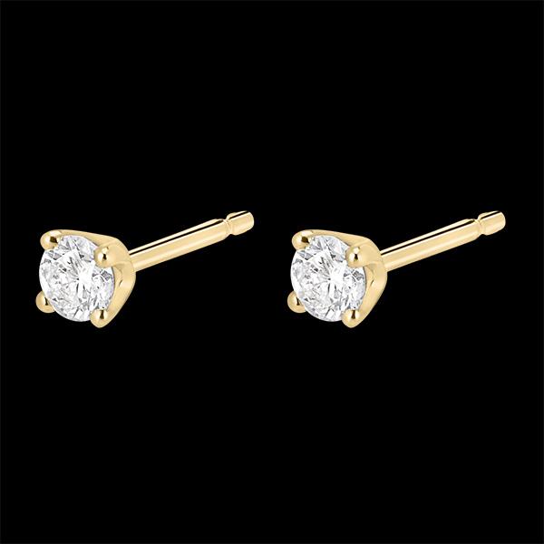 Cercei cu diamante - aur galben de 18k - 0.25 carate