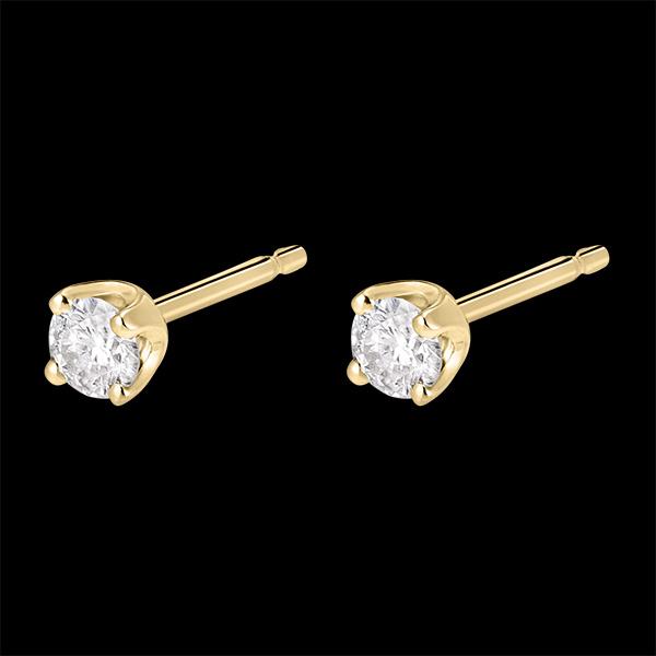 Cercei cu diamante - aur galben de 18k - 0.3 carate