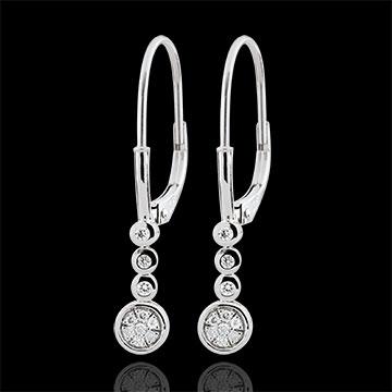 Cercei cu diamante Irissa - aur alb de 18K