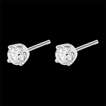 Cercei cu diamante (TGM+) - aur alb de 18k - 0.5 carate