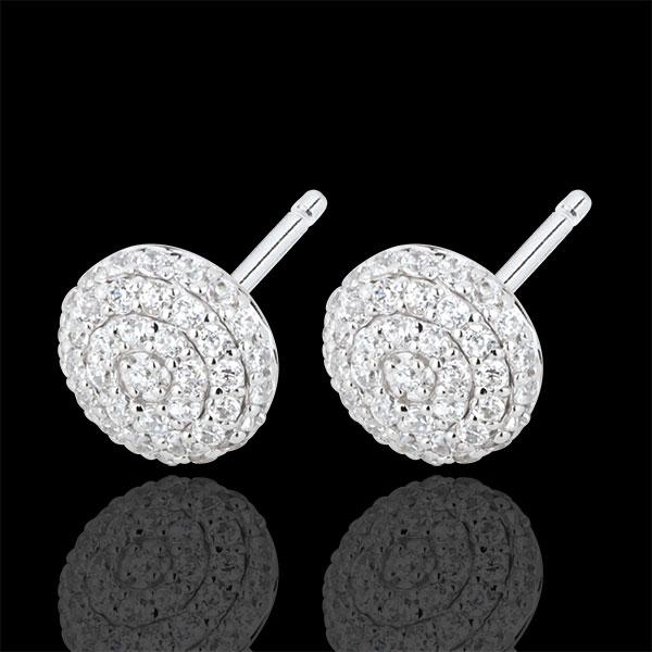 Cercei Destin - Olga - aur alb de 18k şi diamante