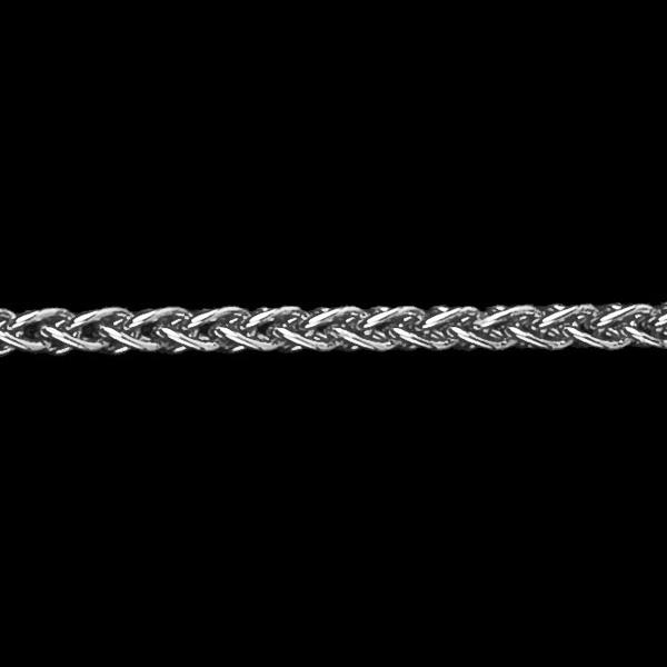 Chaîne maille Palmier or blanc 18 carats - 42 cm