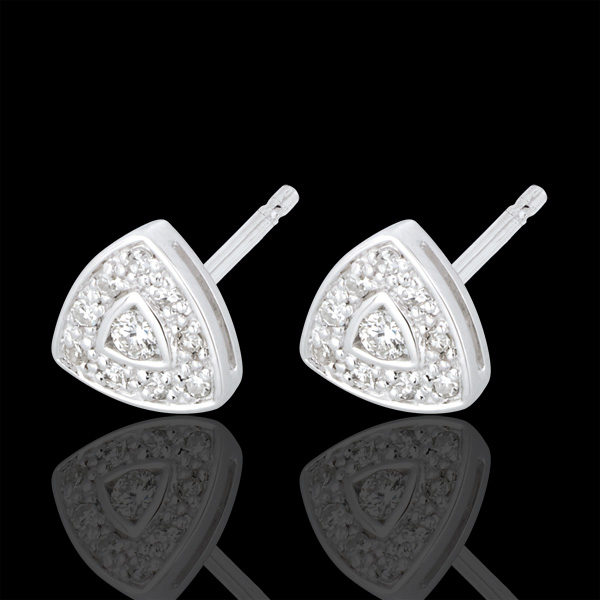 Cinematic White Gold and Diamond Earrings