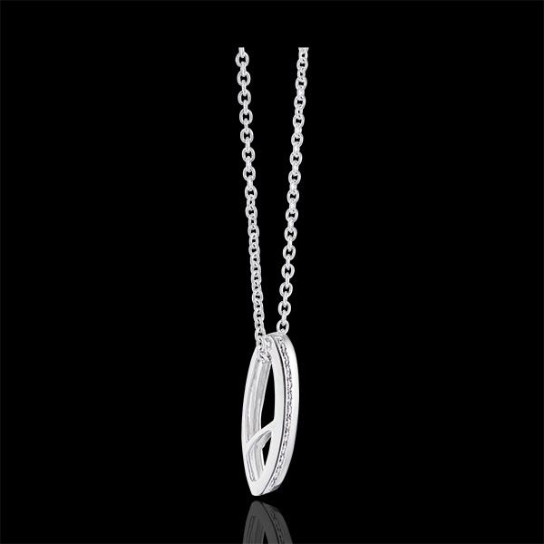 Ciondolo Cartouche - oro bianco 9 carati e diamanti