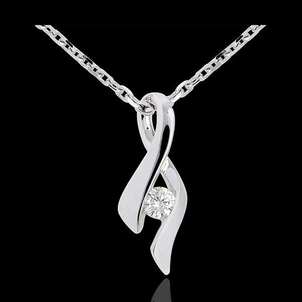 Ciondolo Infinito - Oro bianco - 9 carati - Diamante