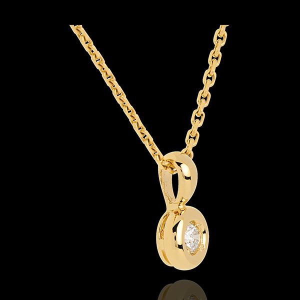 Ciondolo Punto luce - Calice - Oro giallo - 18 carati - Diamante - 0.14 carati