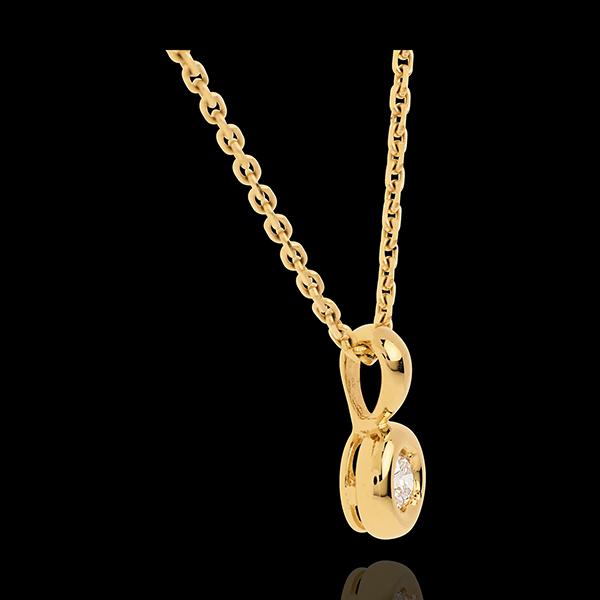 Ciondolo Punto luce - Calice - Oro giallo - 18 carati - Diamante - 0.18 carati