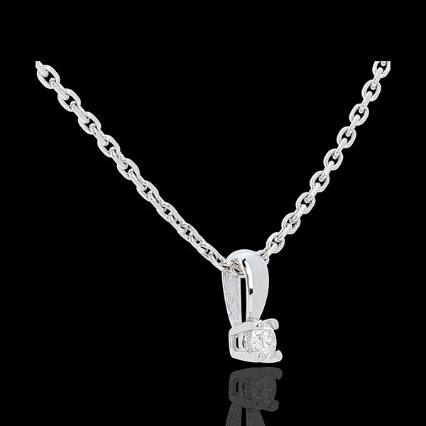 Ciondolo Punto luce - Oro bianco - 18 carati - Diamante - 0.11 carati