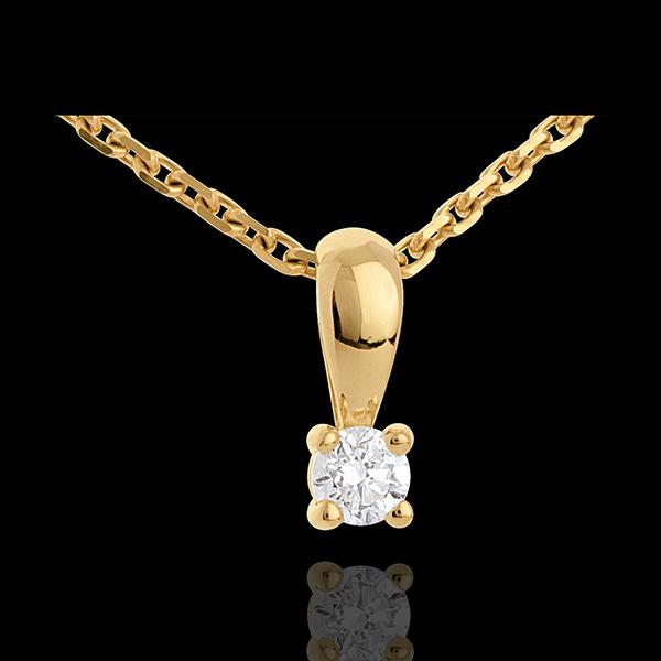Ciondolo Punto luce - Oro giallo - 18 carati - Diamante - 0.16 carati