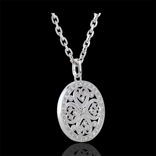 Ciondolo Tahia - Oro bianco - 9 carati - 37 diamanti - 0.22 carati