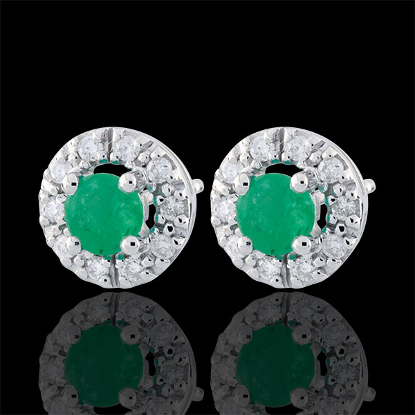 Clévia Emerald Earrings - 18 carats