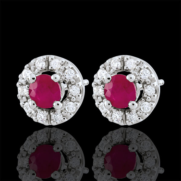 Clévia Ruby Earrings - 18 carats