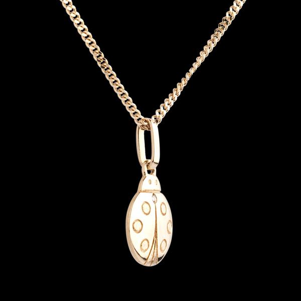 Coccinella - modello piccolo - Oro giallo - 18 carati - Diamante
