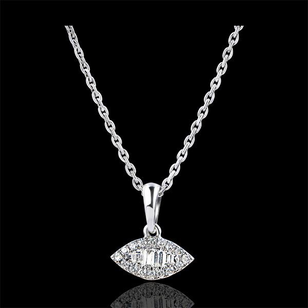 Colgante Abundancia - Mirada Levante - oro blanco de 18 quilates y diamantes