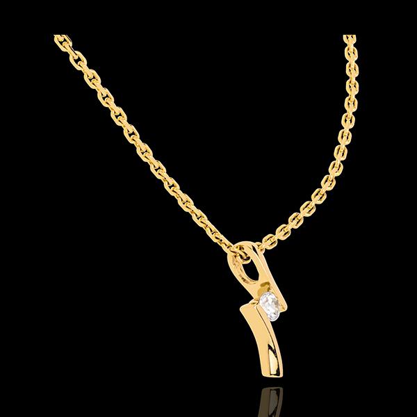 Colgante Apóstrofe diamante - oro amarillo 18 quilates
