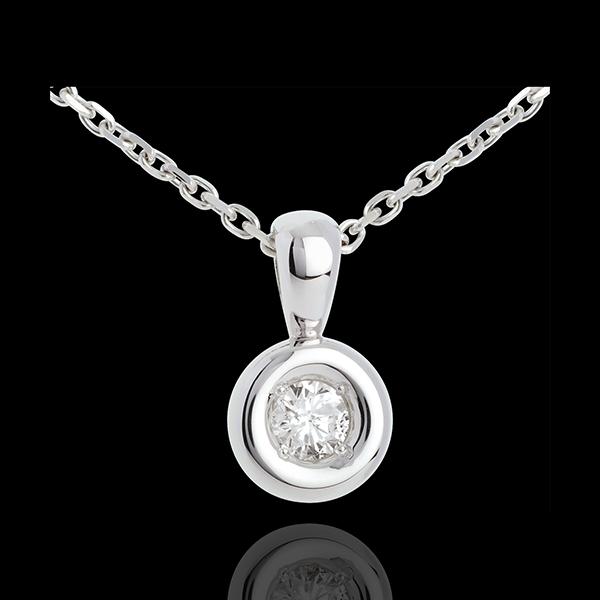 Colgante cáliz diamante campanita - 0.23 quilates