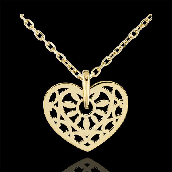 Colgante Corazón Hechizo de Amor - oro amarillo 9 quilates