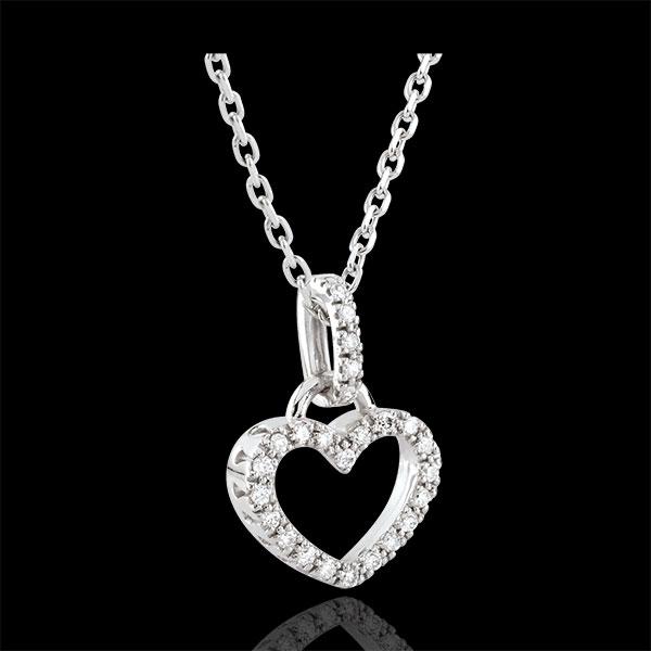 Colgante Corazón de Onphael - oro blanco 9 quilates