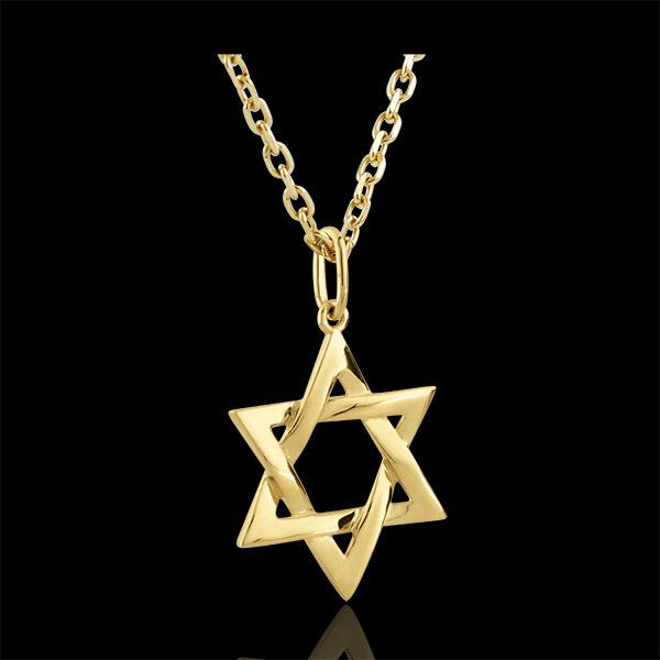 Colgante Estrella de David - oro amarillo