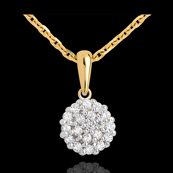 Colgante Kaleidoscopio - oro amarillo empedrado 18 quilates - 19 diamantes