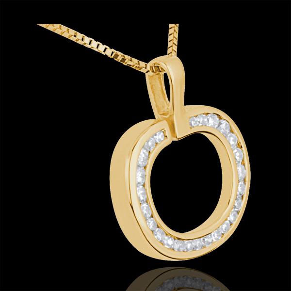 Colgante Manzana - oro amarillo 18 quilates y diamantes