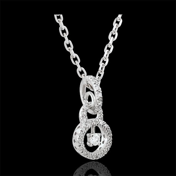 Colgante Scarly - oro blanco 9 quilates - 31 diamantes