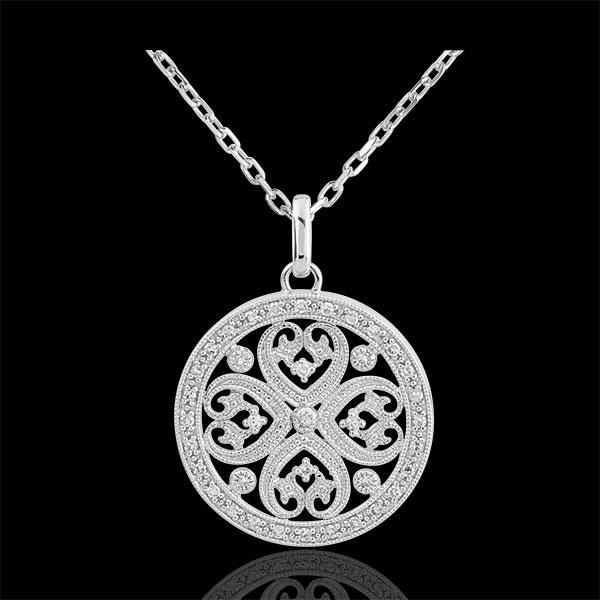 Colgante Sublime Tahia - oro blanco 9 quilates y 37 diamantes