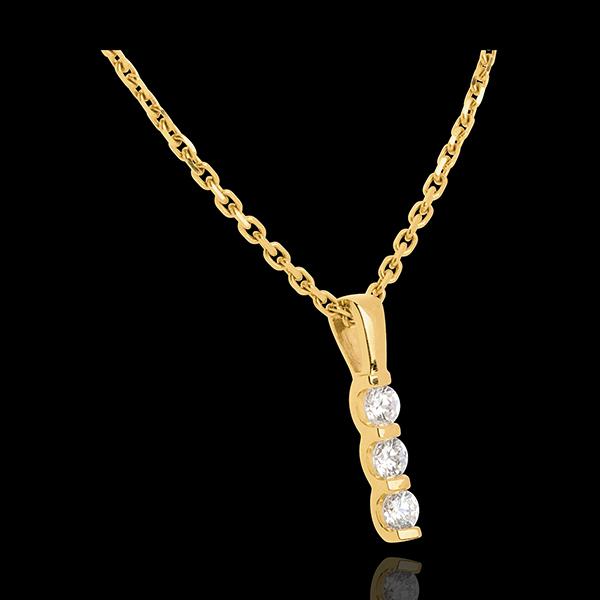 Colgante Tótem Triología - oro amarillo 18 quilates y diamantes