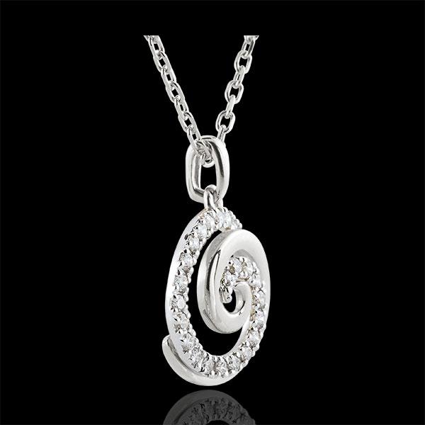 Colgantes Espiral de Amor - oro blanco 9 quilates