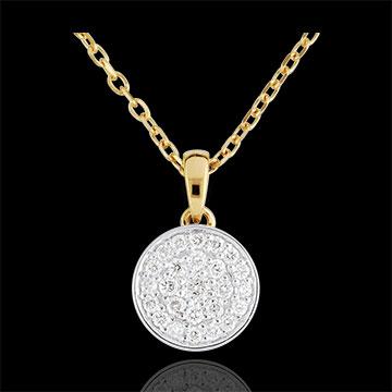 Colier bicolor Constelaţia mea - 0.163 diamante - aur alb şi aur galben de 18K