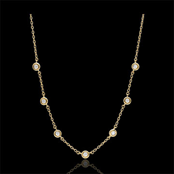 Colier cu diamant Caliste- aur galben de 9K