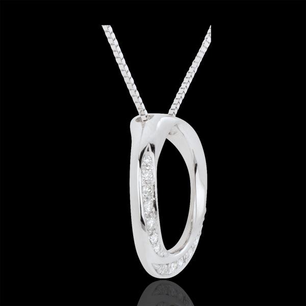 Colier Lady aur alb de 18K şi diamante