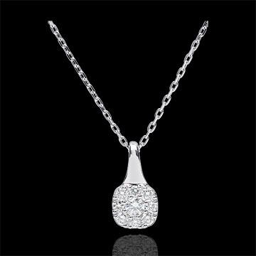 Collana Amadeus - Oro bianco - 18 carati - 9 Diamanti - 0.3 carati
