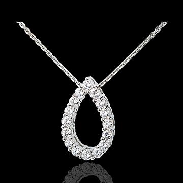 Collana Capriccio - Oro bianco - 18 carati - 16 Diamanti - 1.05 carati