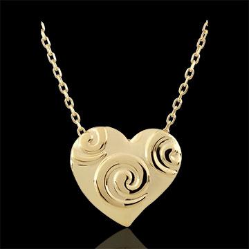 Collana Cuore a spirale - Oro giallo - 9 carati