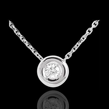 Collana Punto luce - Calice - Oro bianco - 18 carati - Diamante